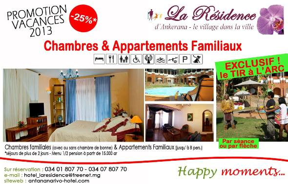 remise vacances hotel la residence