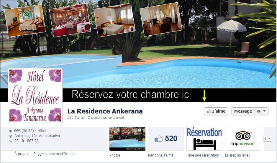 facebooking hotel laresidence Réservez votre chambre à l Hôtel La Résidence à partir de Facebook