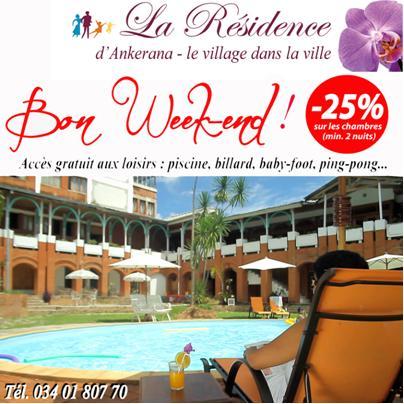 weekend la residence Tous en week end à La Résidence