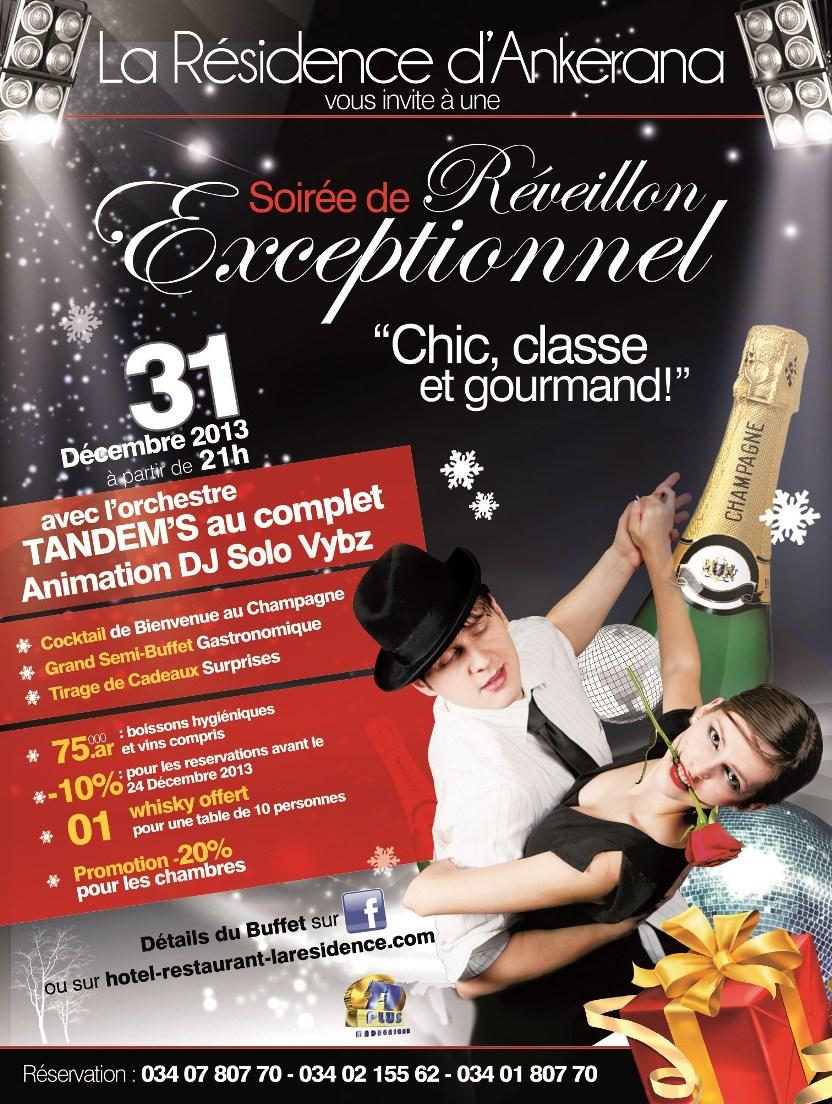 31 décembre hotel laresidence Soirée du Réveillon 2013