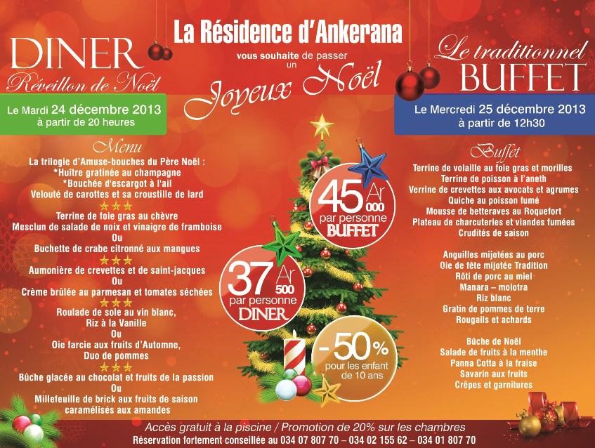 Noël 2013 à La Résidence Le traditionnel BUFFET de Noël